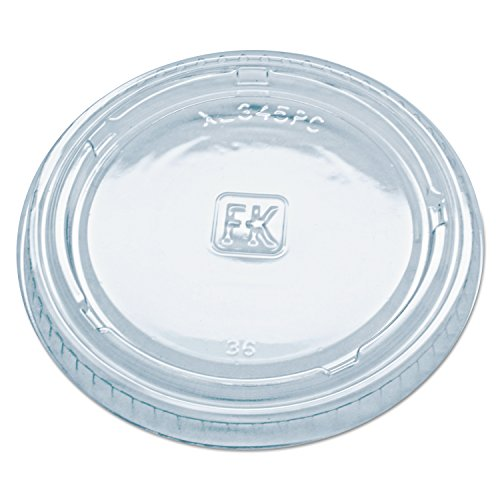 Kal Crystal - Fabri-Kal XL345PC Clear Polyethylene Terephthalate Lid for 3.25 4 5.5-Ounce Portion Cup (Case of 2500)