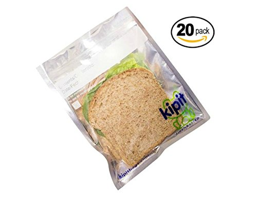 Oatmeal Cookies Silver - Kipit Clear Resealable Smell Proof Foil Pouch Bag - Airtight Zipper (20 Count)