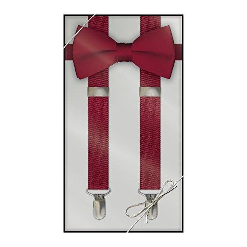 Apple Tie (Suspender & Bow Tie Set (Adult, Apple Red))