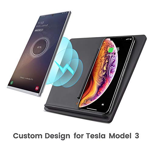 TAPTES Tesla Model 3 Wireless Charger Dual Wireless ...