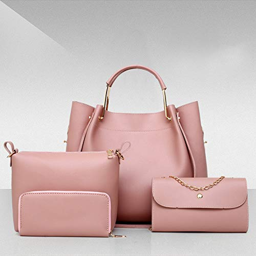 Pink Per Pelle Messenger Pezzi Red Pu 4 In Borsa Donna Borse LUCKYCCDD Borsa Set Borsa La CTYZq