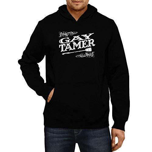 Idakoos Gay Tamer Vintage Hoodie L Black ()