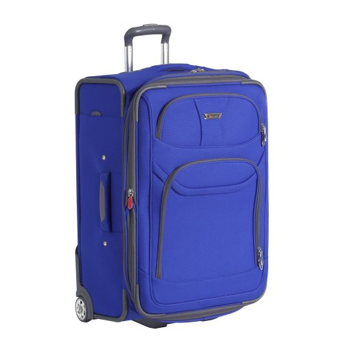 Delsey Luggage Helium Fusion Light 25 Inches Expandable Upright, Blue, One Size, Bags Central