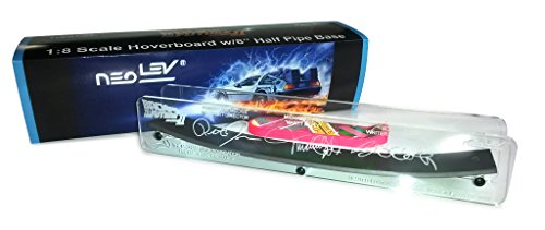 BACK TO THE FUTURE PART II 1:8 SCALE HOVERBOARD W/8-INCH HALF PIPE BASE [MICHAEL J. FOX EXCLUSIVE LIMITED EDITION SIGNATURE -
