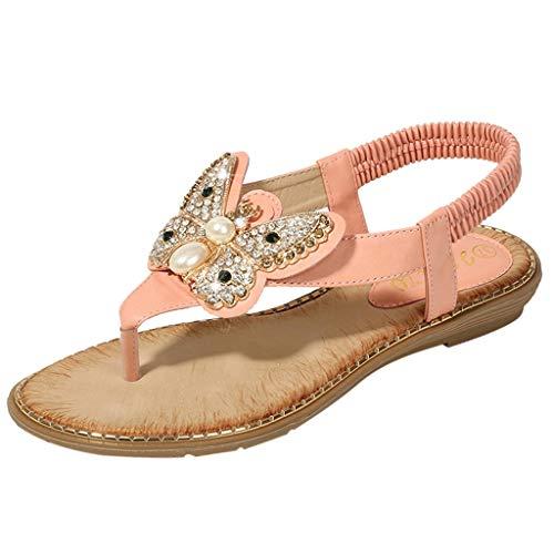LYN Star✨ Ladies's Shoes Signature Sandal: Comfort Walking Ergonomic Flip Flops, Slides & Sandals for Women Pink ()