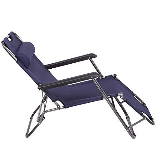Outdoor Adjustable Lounger with Headrest