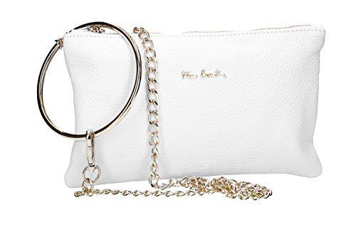 Italy Women's Pochette Bag Made Pierre Shoulder In White Leather Cardin Vn2286 TPznqRwTO