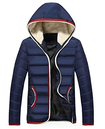 Lunghe Colletto Spesso Outwear Cappuccio Deepblue Trapuntata Cappuccio Giacca Coreana Transizione Inverno Di A Calda Abbigliamento Alla Alternativa Uomini Giù Maniche Con dqwa7d