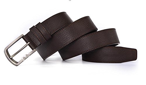 PIDAI PDAI@,Herren Leder Gürtel Gürtel, Herren Leder Gürtel, Korean Geschäft Trends Jugend Casual Gürtel, Hose,125  3.4cm