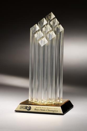 Trophy Studio 14'' Tall Achievement Diamond Nine Posts Acrylic Award