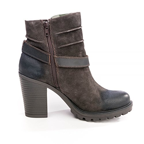 Replay Womens Leather Boots GWH22 .003.C0020L Dk Brn cDUTS