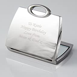 Personalized Engraved Handbag Compact Mirror- Shipped From England