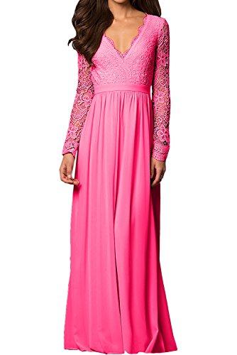 trapecio mujer Topkleider para 38 rosa Vestido BqCxwCOT