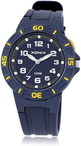 Boys Girls多機能クォーツスポーツ腕時計、100 M防水LED Jelly樹脂ストラップアウトドアファッション子wristwatch-d