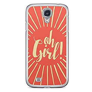 Oh Girl Samsung Galaxy S4 Transparent Edge Case - Titles Collection