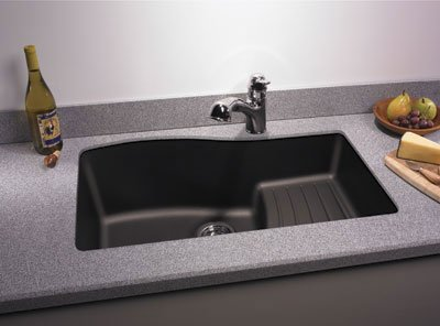 Swanstone QUAD 3322.077 33 Inch By 22 Inch Undermount Ascend Bowl Kitchen  Sink