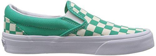 Slips On Vans Classic Slip-On Slip blanco y azul (checkerboard) aqua green