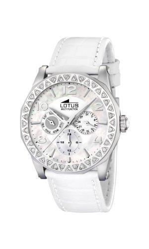 Lotus 15684/1 - Reloj de mujer de cuarzo, correa de piel color blanco: Lotus: Amazon.es: Relojes
