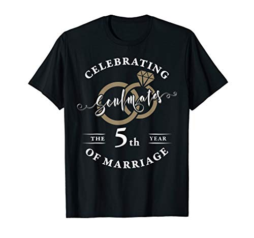 5th Wedding Anniversary T-Shirt 5 years of Marriage Gift (Best Shirts For Marriage)