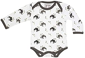 Organic Baby Clothing Long Sleeve Onesies GOTS Certified Cotton Various Colors