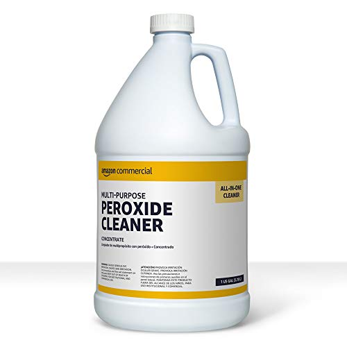 AmazonCommercial Multi-Purpose Peroxide Cleaner, Concentrate, 1-Gallon, 4-Pack