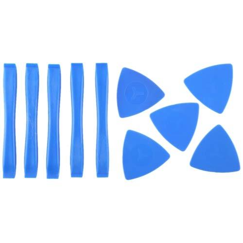 (HITSAN INCORPORATION 5 PCS Plastic Disassemble Spudgers + 5 PCS Plastic Triangle Prying Tool)