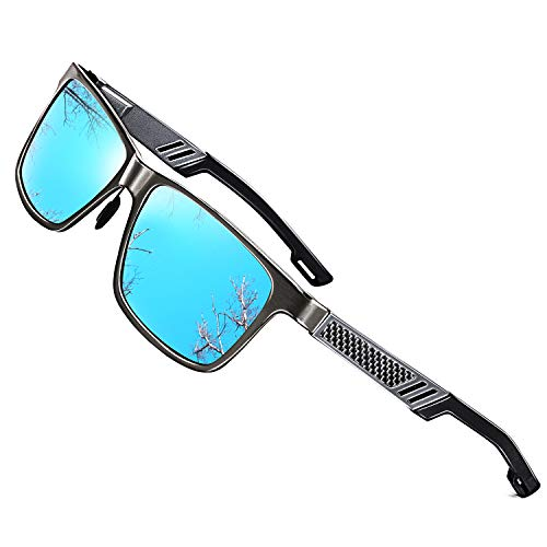 ROCKNIGHT HD Polarized Sunglasses for Men Fishing Blue Sunglasses Mirrored Casual Beach Sunglasses for big head