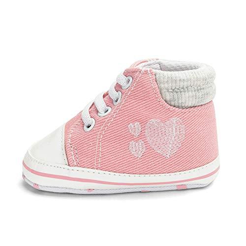 Prima Infanzia 21 Baby Con Bimbo 18 UomogoScarpine Per Ciabatte Tela Mesi AmareShoes Primi In Rosa 0 Passi Amare Scarpe QexrdEBWCo