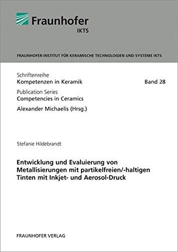 Entwicklung und Evaluierung von Metallisierungen mit partikelfreien/-haltigen Tinten mit Inkjet- und Aerosol-Druck.