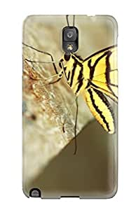High Quality GgTVIol1204OrzGq Yellow Butterfly On A Wood Tpu Case For Galaxy Note 3