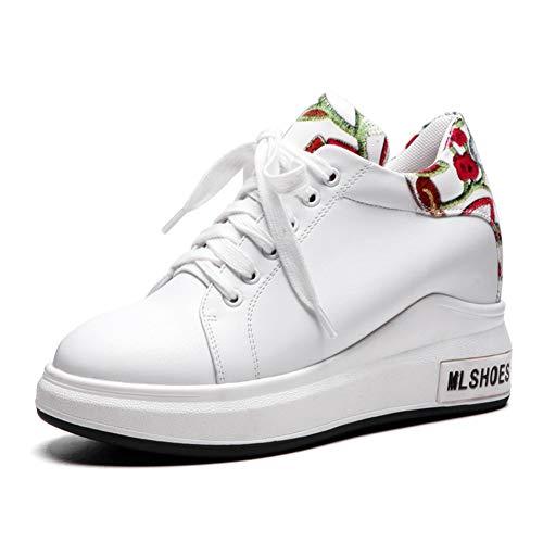 Zapatillas White Moda Vulcanize Leisure Shoes Marca 43 Deporte Casuales Zapatos Gran Negro Con Cordones Mujer 31 Hoesczs De Platform Tamaño Blanco ZxfqXR