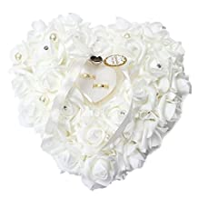 WDA Romantic Rose Ring Boxes Heart-shaped Best Holder for Engagement Rings or Wedding Rings Boxes