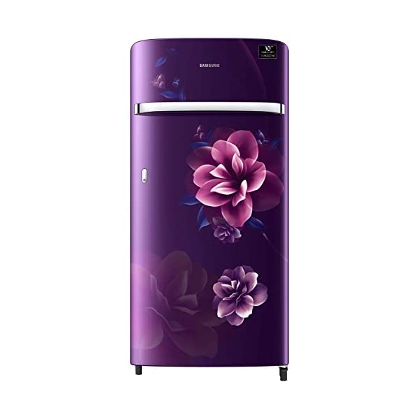 Samsung 198 L 4 Star Inverter Direct-Cool Single Door Refrigerator (RR21T2G2XCR/HL, Camellia Purple) 2021 August Direct-cool refrigerator : Economical and Cooling without fluctuation Capacity 198 liters: Suitable for families with 2 to 3 members and bachelors Energy rating 4 Star : high efficiency model
