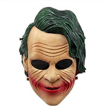 haoyk Tactical Airsoft Paintball cara completa protección Joker payaso máscara para Halloween Cosplay CS juego de