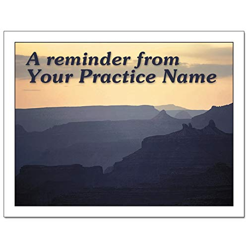 Laser Reminder Postcards, Customizable Dental Appointment Reminder Cards. 4 Cards Perforated for Tear-Off at 4.25'' x 5.5'' on an 8.5'' x 11'' Sheet of 8 Pt Card Stock. DEN301LZC (2500) by Custom Recall (Image #2)