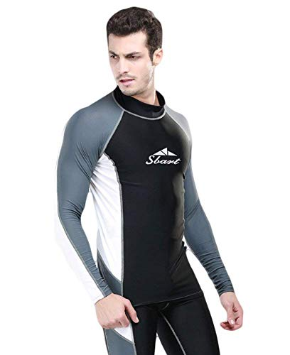 Fortuning's JDS® Couple Matching Swimwear Long Surfing Swimsuit UPF 50+ (Men top, XL) by Fortuning's JDS®