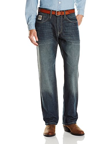 Rinse Horse - Cinch Men's White Label Relaxed Fit Jean,  Hi Contrast Dark Rinse, 34W x 32L