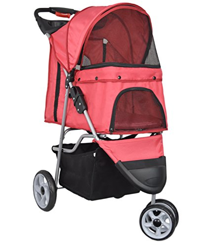 vivo-three-wheel-pet-stroller-for-cat-dog-and-more-foldable-carrier-strolling-cart-multiple-colors-r