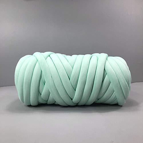 (Zituop Cotton Tube Merino Wool Alternative Chunky Yarn Washable Braid for Arm Knitting Blankets Rugs, 2.2Lb-45M(Mint))