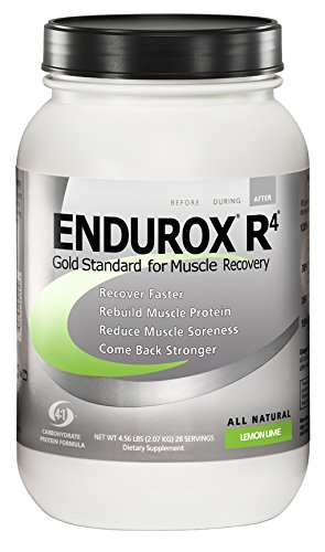PacificHealth Endurox R4, All Natural Post Workout Recovery Drink Mix, Net Wt. 4.56 lbs, 28 Servings (Lemon Lime) (Best Drink For Exercise)