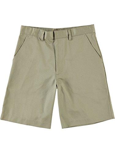 Universal School Uniform Khaki Shorts (Universal Husky Flat Front Unisex Shorts - khaki, 12h)