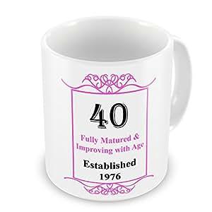 40th cumpleaños establecido 1976años–taza rosa