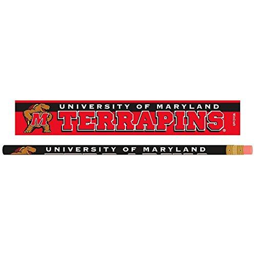(Wincraft NCAA University of Maryland Pencil (6 Pack), Black)