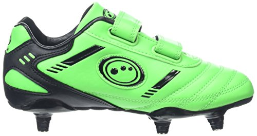 Optimum Jungen Tribal Moulded Stud Fußballschuhe, Green (Fluro Green/Black), 31 EU