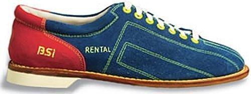 BSI Mens Cosmic Suede Rental Bowling Shoes- Laces (10 M US, (Leather Rental Bowling Shoes)