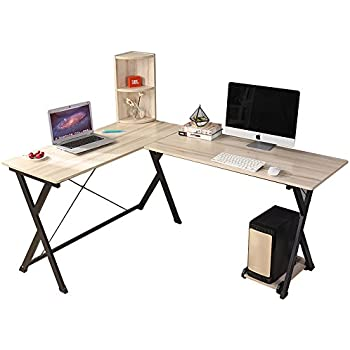 Amazon Com Sauder Transit L Desk In Salt Oak Kitchen