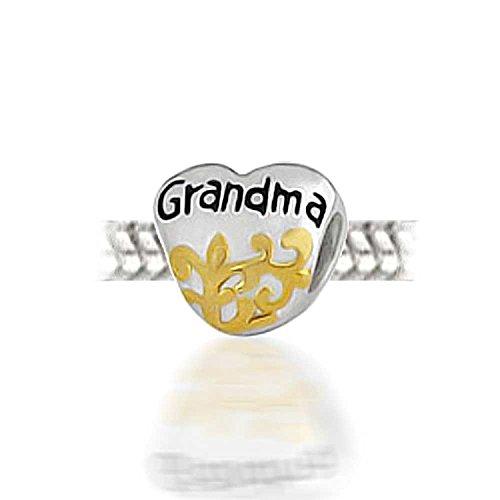 Argent sterling 925Love Grandma pour bracelet Pandora Charms Cadeau pour grand-mère