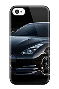 Cute Appearance Cover/tpu VmNfwSL7439GOxKR Cars Nissan Gtr Black Case For Iphone 4/4s