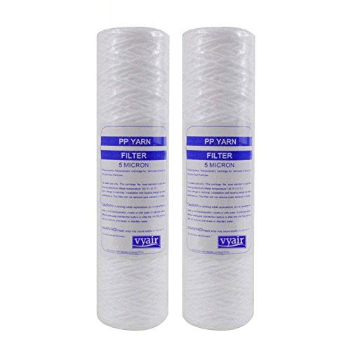 2 x VYAIR 5 Micron 10' String Wound PP Yarn Sediment, Particle, Reverse...