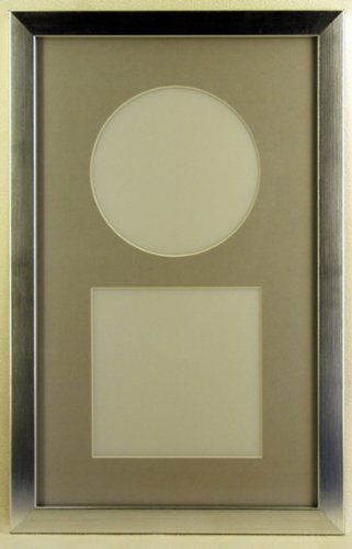 Amazoncom 8x13 Silver Mat Complete W34 Silver Cd Frame Glass